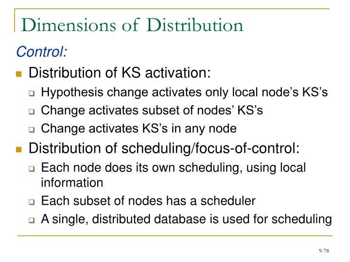 Dimensions of Distribution