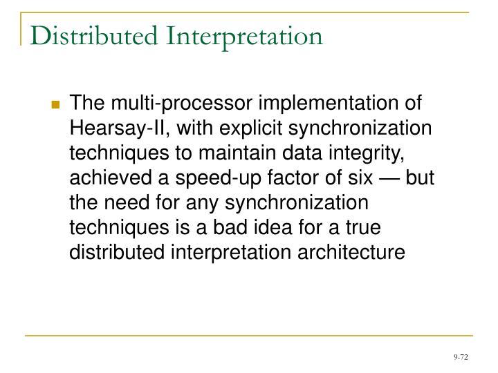 Distributed Interpretation