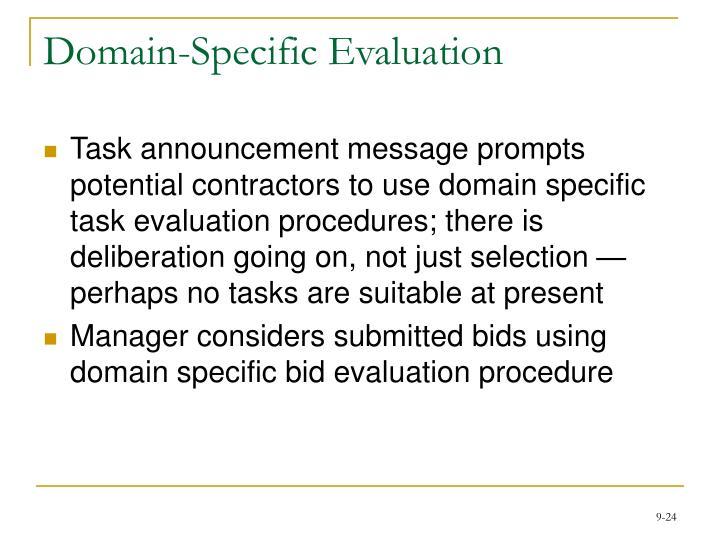 Domain-Specific Evaluation