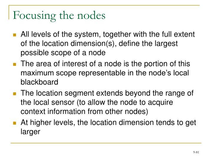 Focusing the nodes