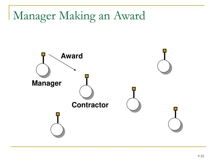 Manager Making an Award