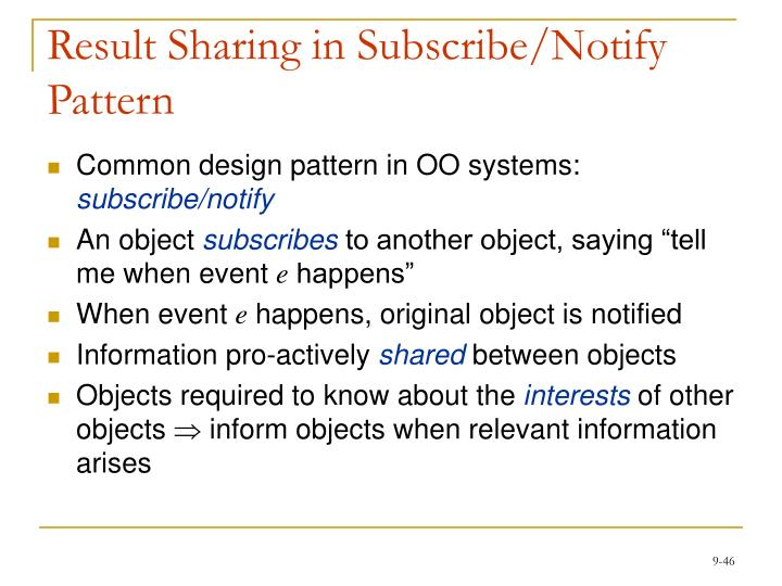 Result Sharing in Subscribe/Notify Pattern