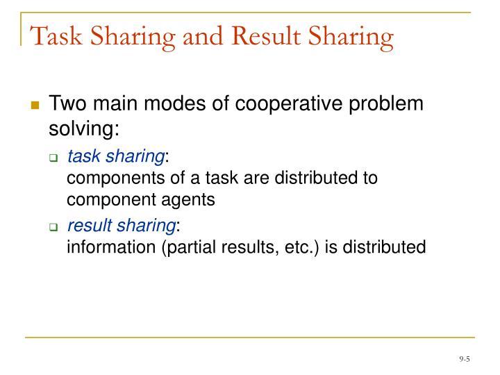Task Sharing and Result Sharing