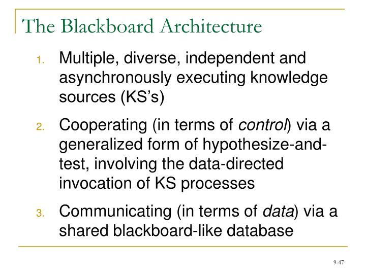 The Blackboard Architecture