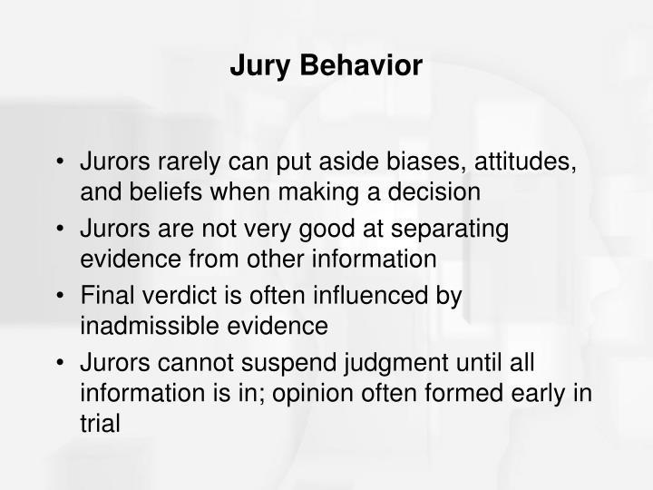 Jury Behavior