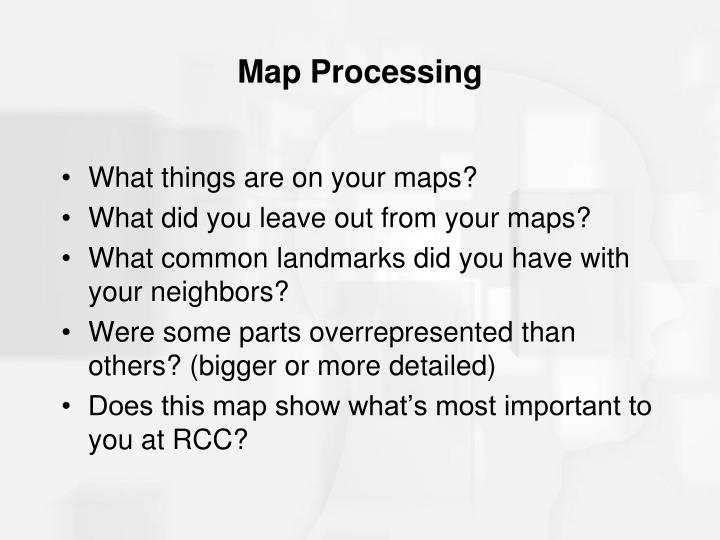 Map Processing