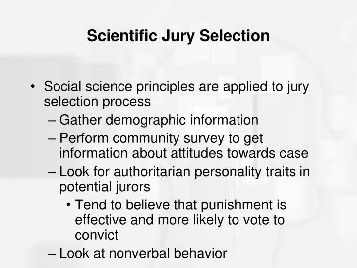 Scientific Jury Selection