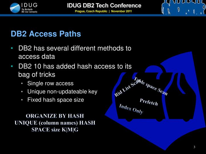 Db2 access paths