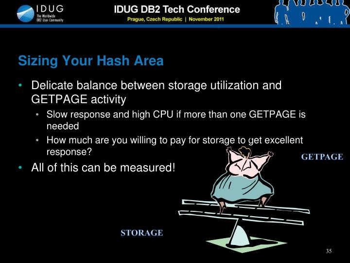 Sizing Your Hash Area