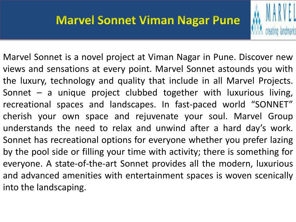 Marvel Sonnet Viman Nagar Pune
