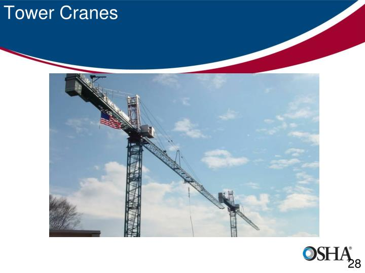 Tower Crane Requirements : Ppt osha cranes derrick review subpart cc powerpoint