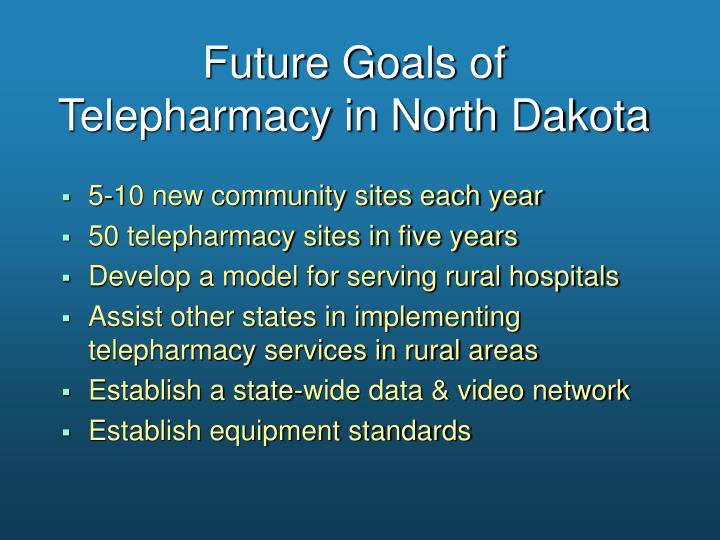 Future Goals of          Telepharmacy in North Dakota