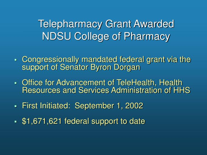 Telepharmacy Grant Awarded