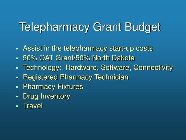 Telepharmacy Grant Budget