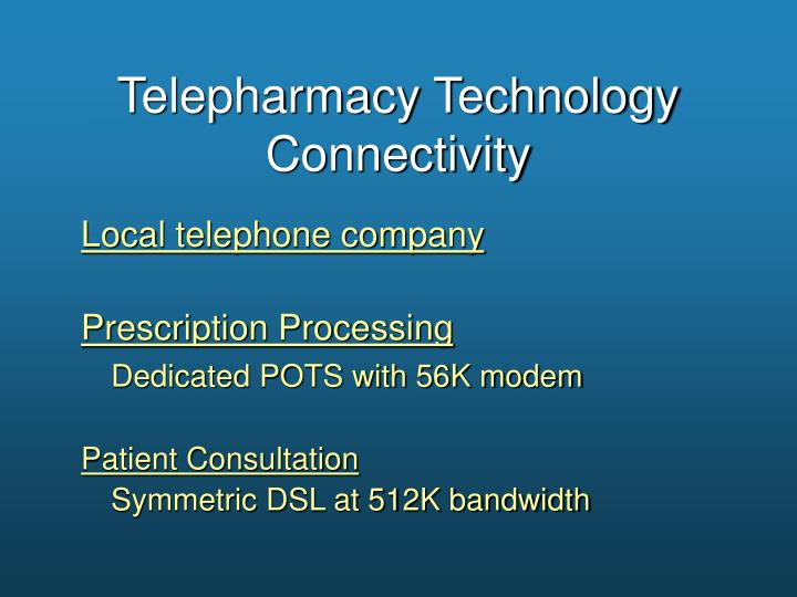 Telepharmacy Technology