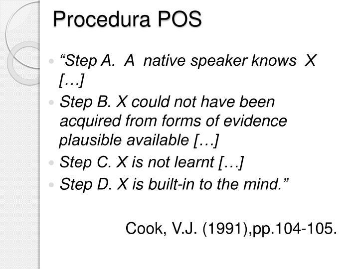 Procedura POS