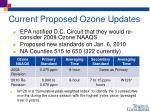 current proposed ozone updates