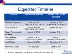 expedited timeline