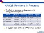 naaqs revisions in progress