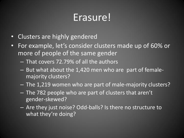 Erasure!