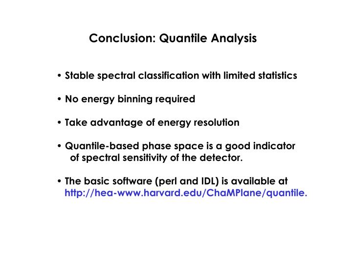 Conclusion: Quantile Analysis