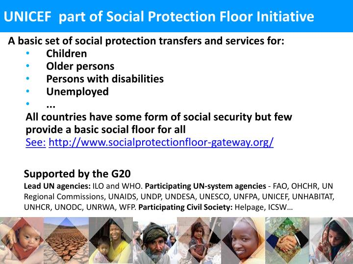 UNICEF  part of Social Protection Floor Initiative