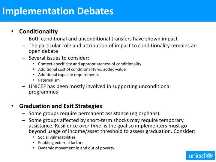 Implementation Debates