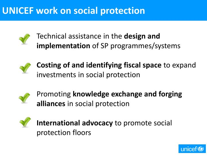 UNICEF work on social protection