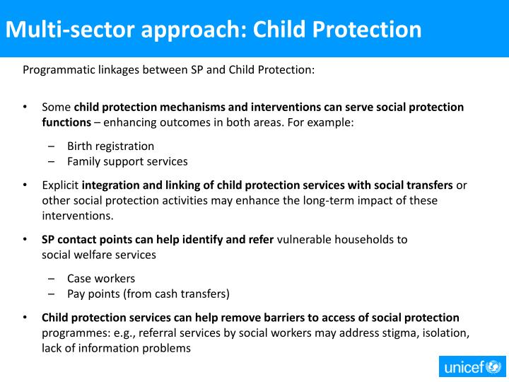 Multi-sector approach: Child Protection