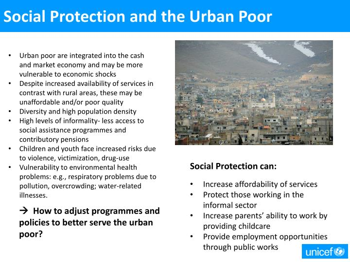 Social Protection and the Urban Poor