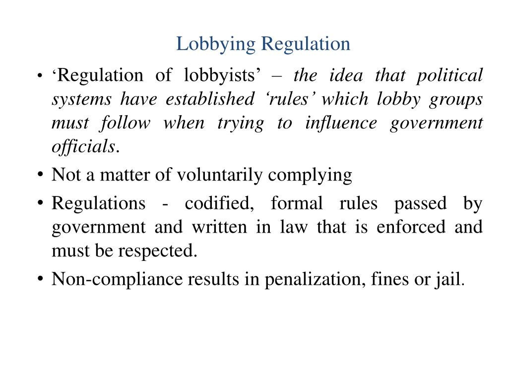 Lobbying Regulation
