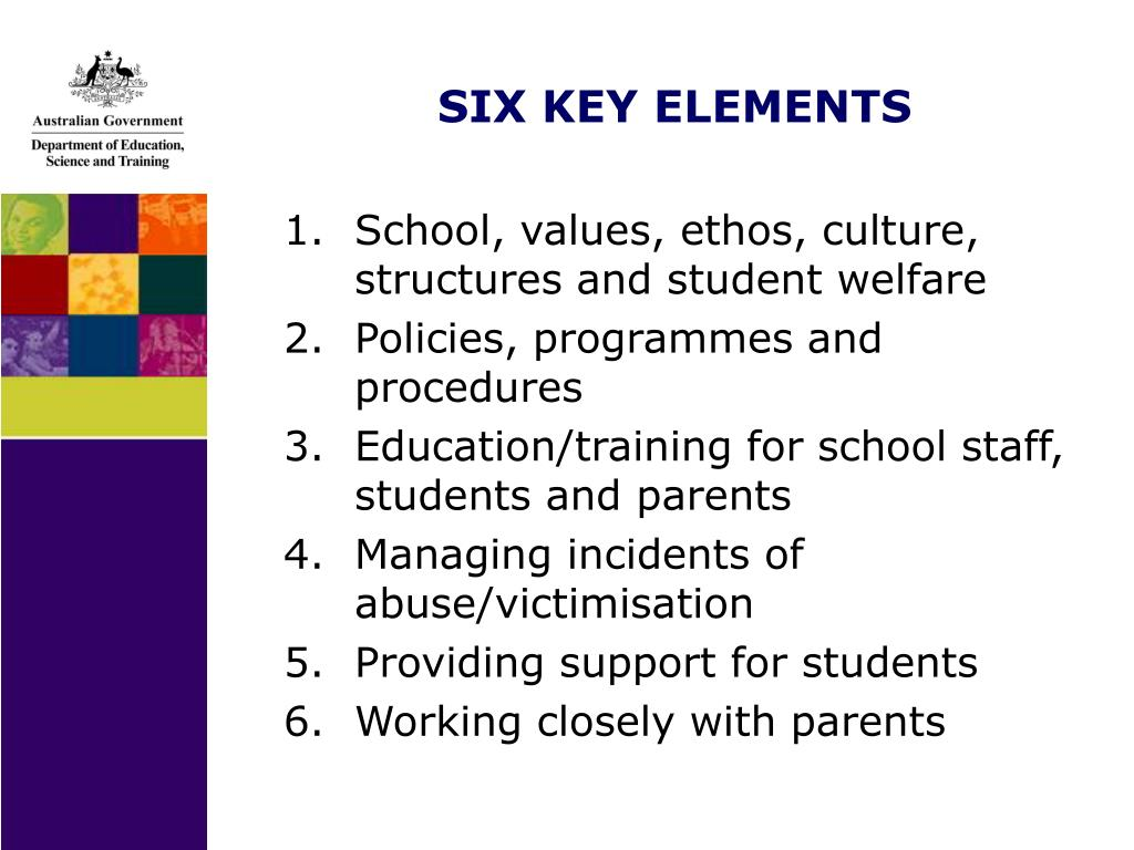 SIX KEY ELEMENTS