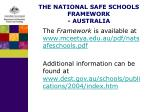 the national safe schools framework australia