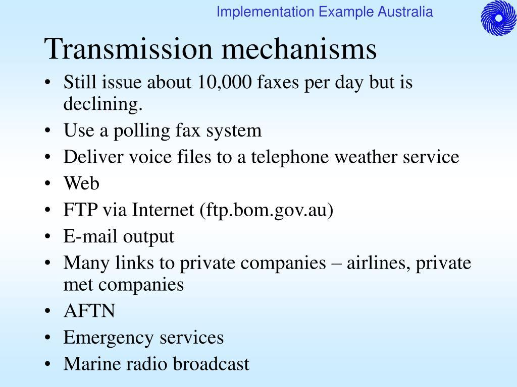 Transmission mechanisms