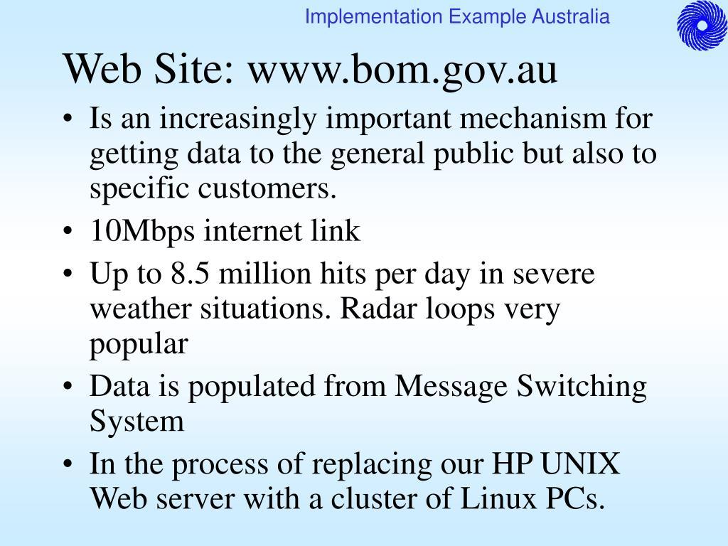 Web Site: www.bom.gov.au