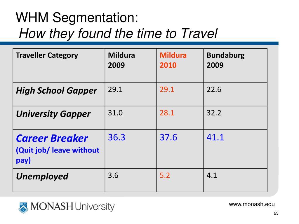 WHM Segmentation: