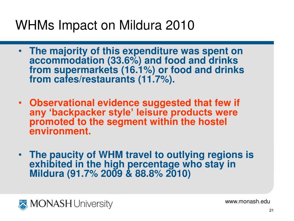 WHMs Impact on Mildura 2010
