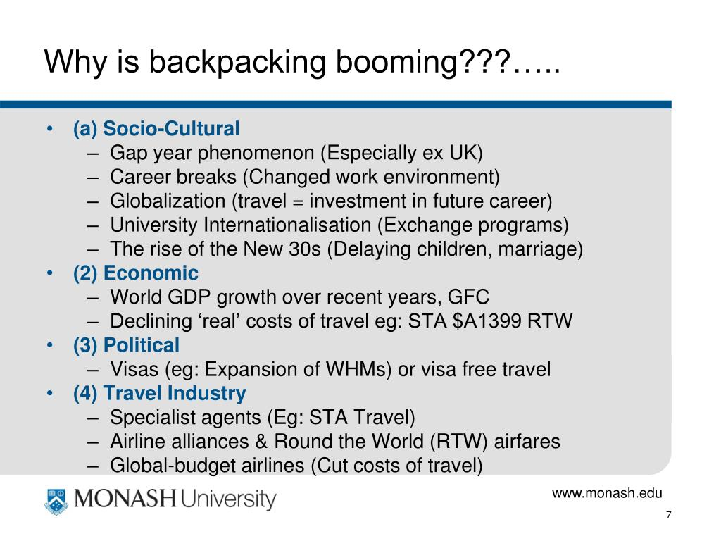 Why is backpacking booming???…..