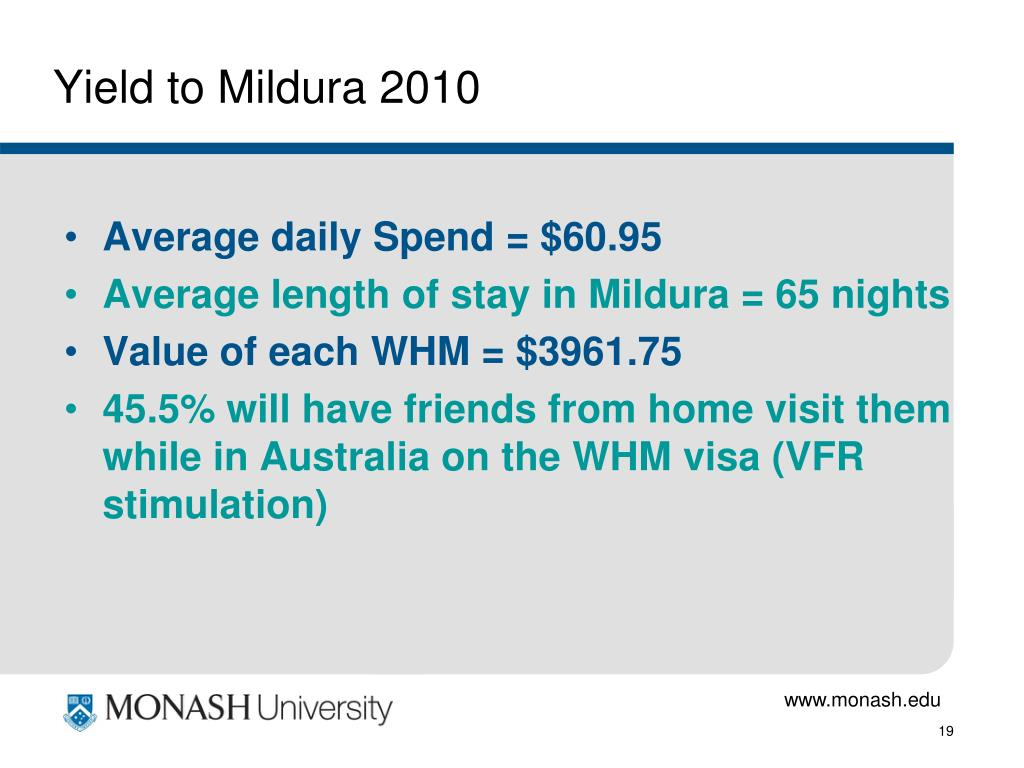 Yield to Mildura 2010