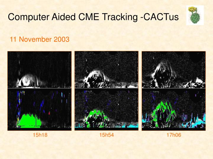 Computer Aided CME Tracking -CACTus