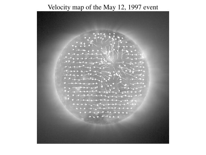 Velocity map of the May 12, 1997 event