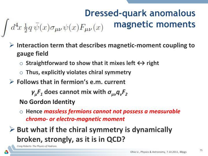 Dressed-quark anomalous