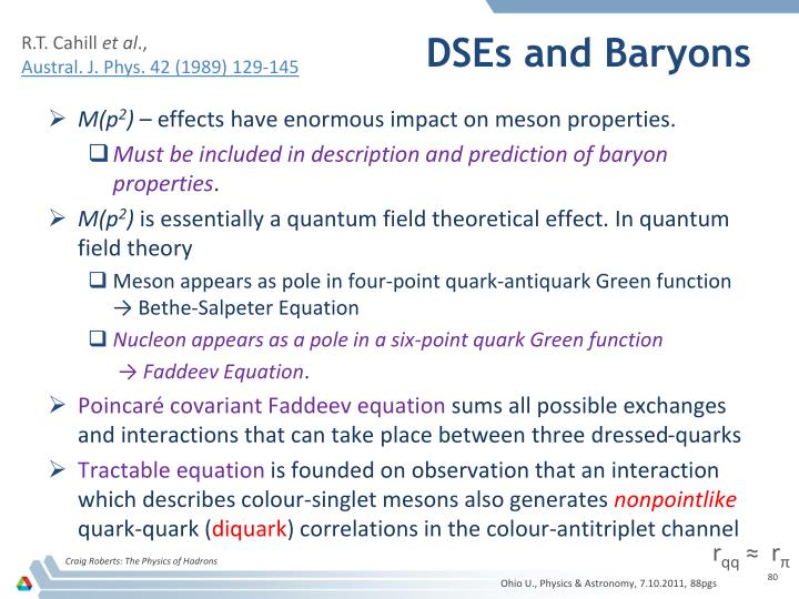 DSEs and Baryons