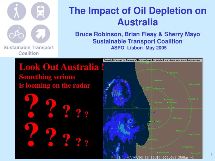 The Impact of Oil Depletion on Australia