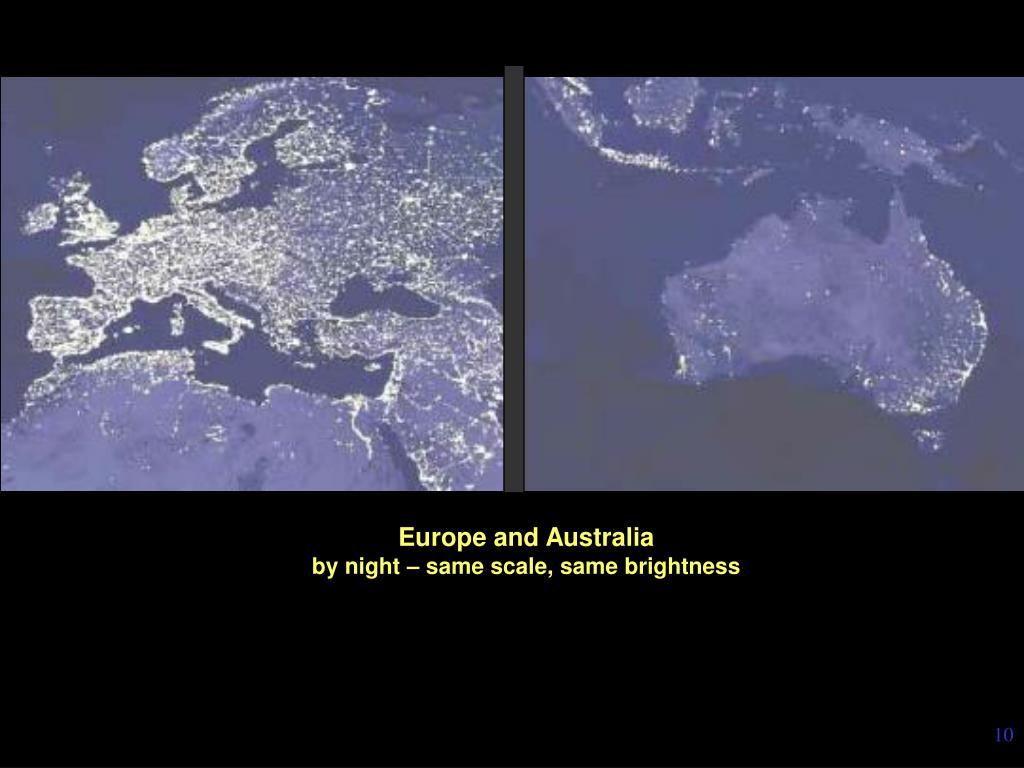 Europe and Australia