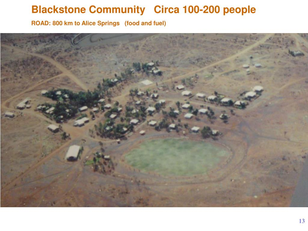 Blackstone Community   Circa 100-200 people