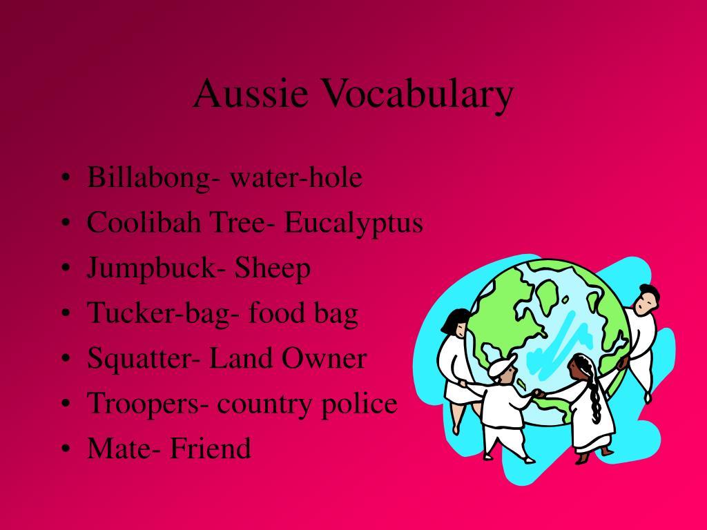 Aussie Vocabulary