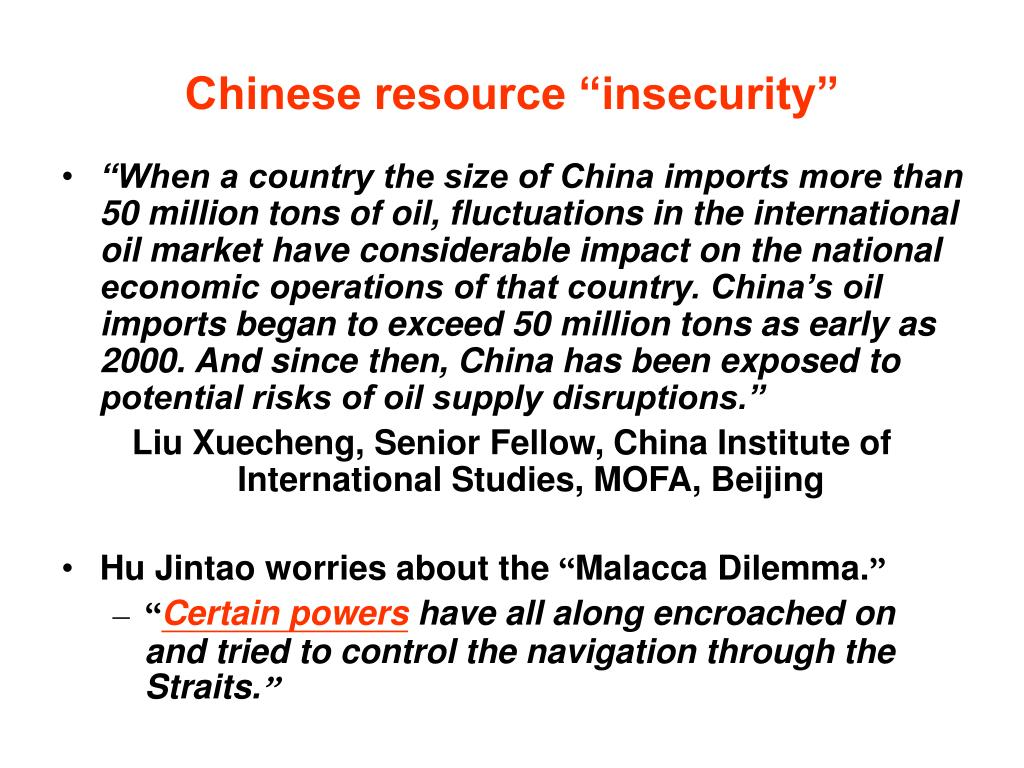 "Chinese resource ""insecurity"""