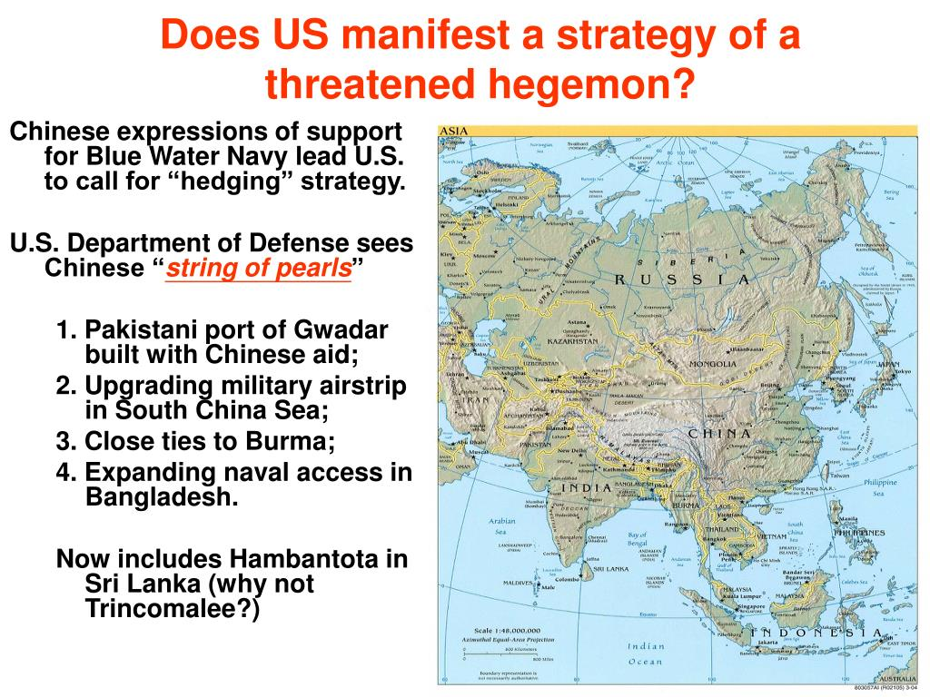 Does US manifest a strategy of a threatened hegemon?