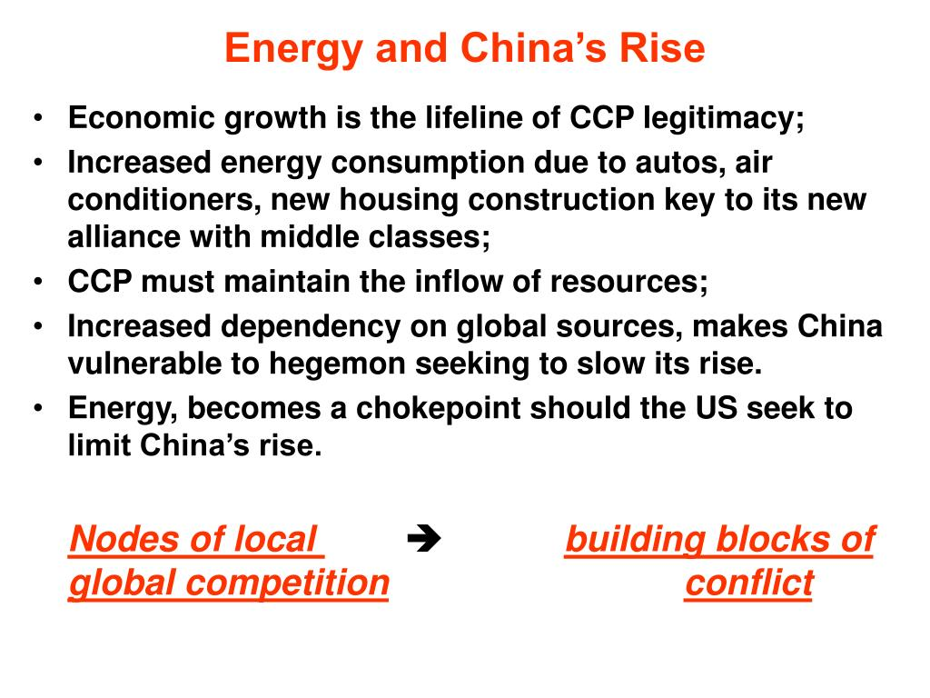Energy and China's Rise